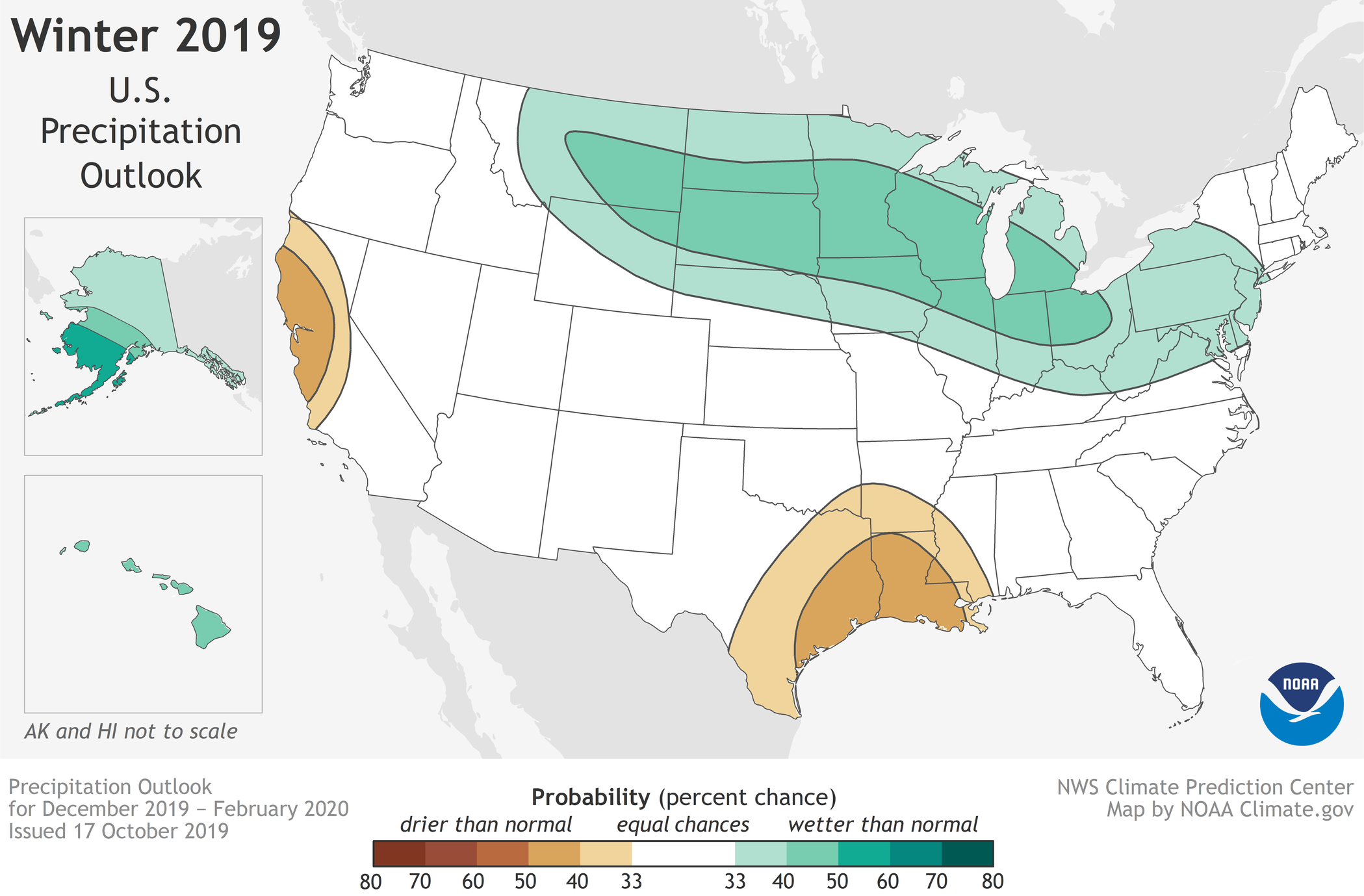 Winter 2019/2020 NOAA precipitation MAP