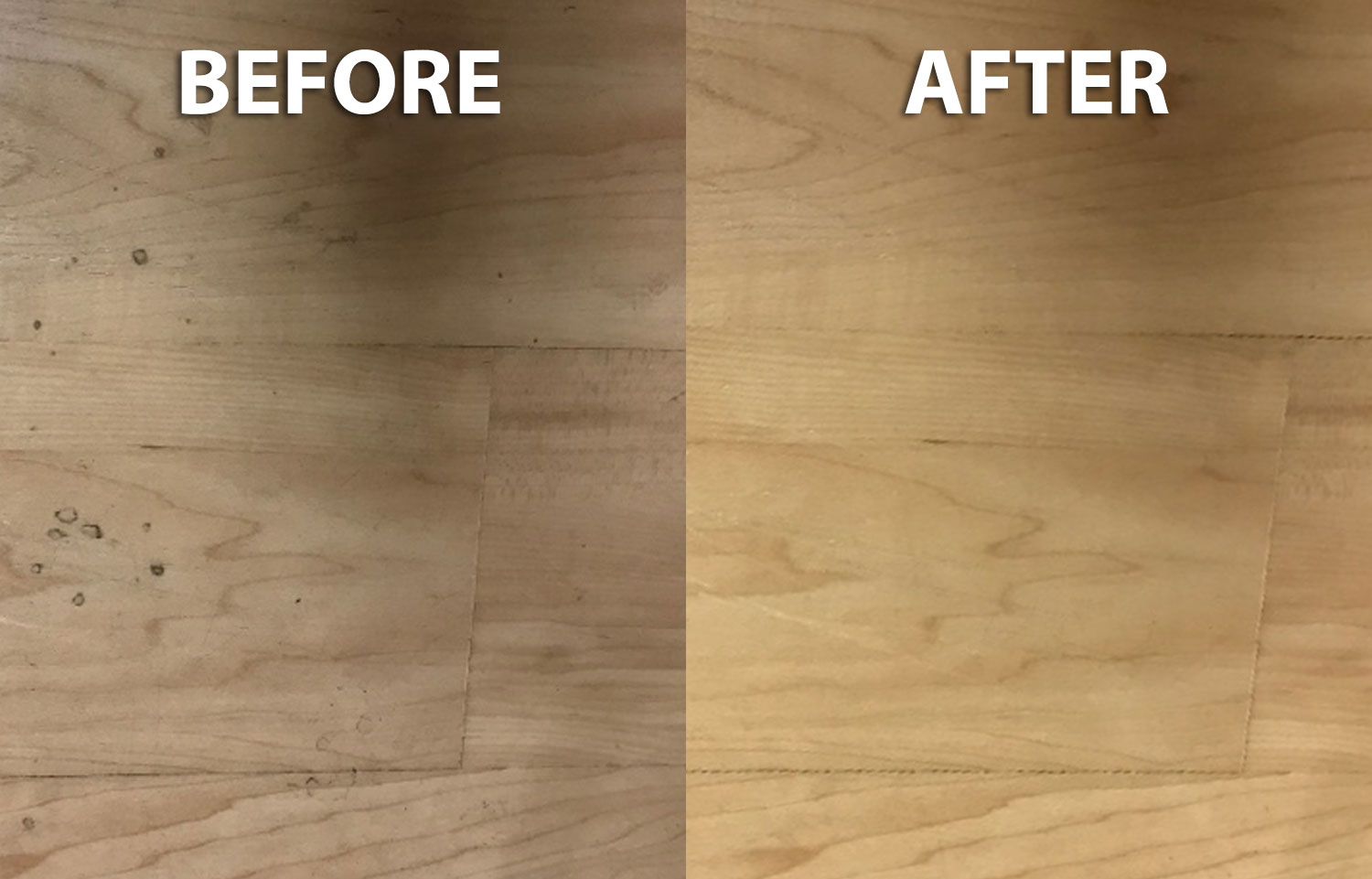 More Luxury Vinyl Flooring after being cleaned by EnvirOx products