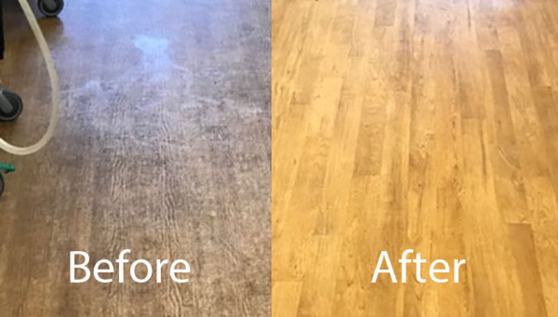 Clinic Floor Before and After